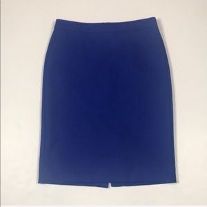 J.  Crew Blue No. 2 Pencil Skirt. Size 4.